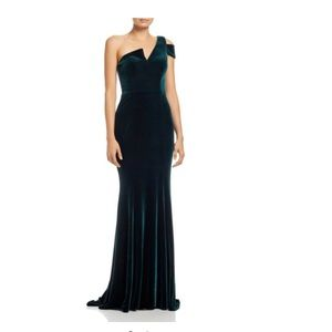 AQUA one shoulder gown